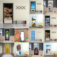 3D Fashion Art Window Door Decal Large Wall Stickers Home Decor Poster Scene Wholesale Free Shipping 30RH25