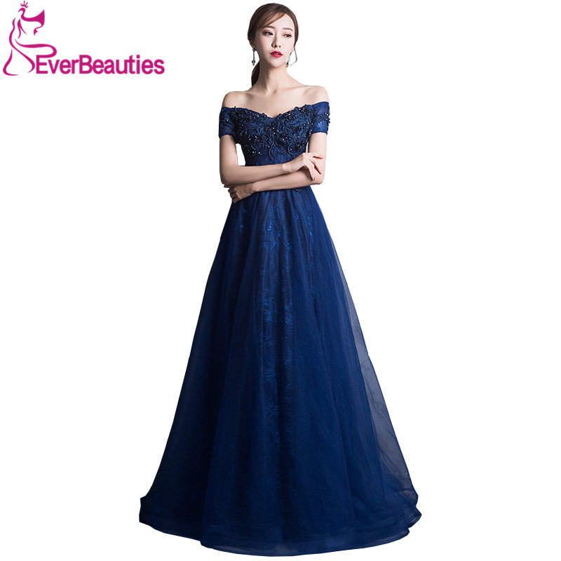 Elegant Sweetheart   Evening     Dresses   Long Prom   Dresses   Tulle with Appliques Beaded   Evening   Party   Dress   Gown Long   Dress