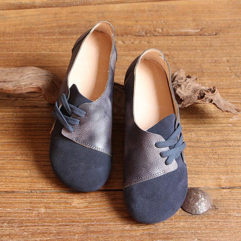 En Bracelet Rétro Art Chaussures Noir Lutte Plat Cuir Femelle Japonais Sen Couleur q5n1faw