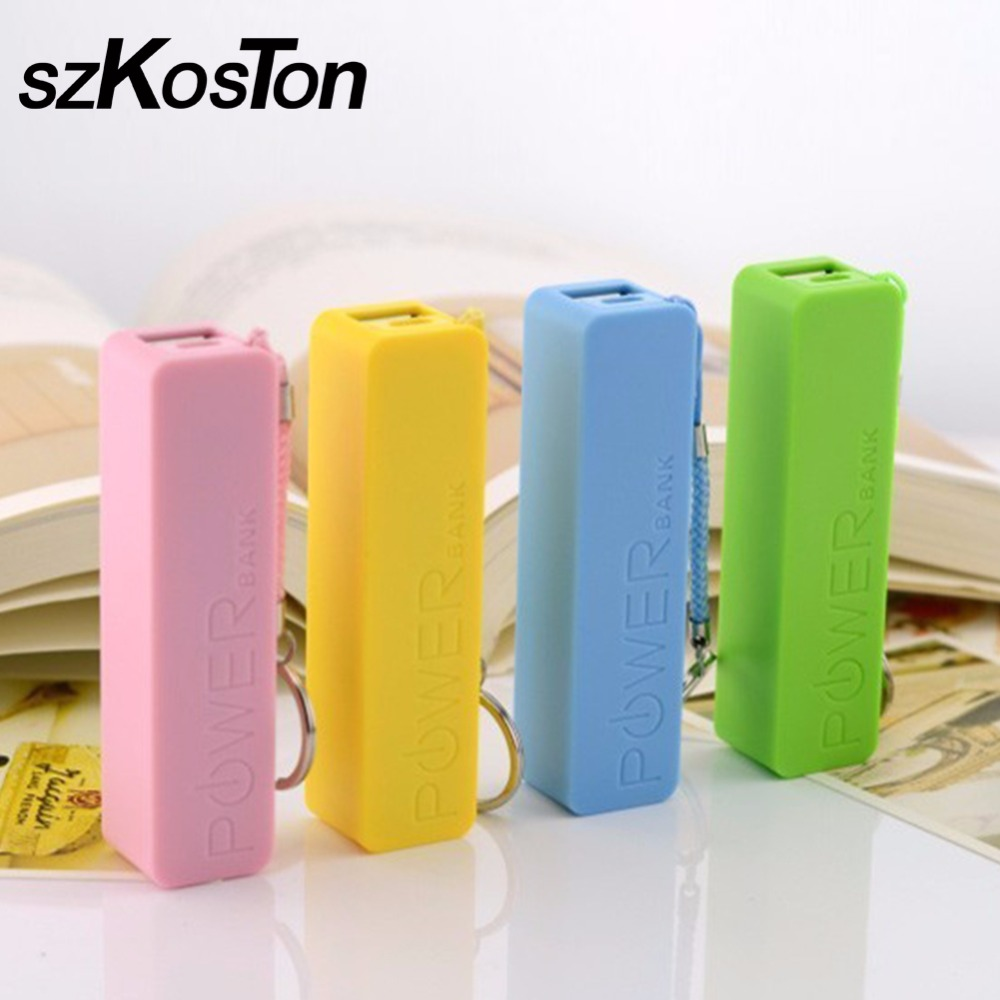 Convenience Backup 18650 Battery Charger Power Bank Case USB Battery Storage Box High Quality Cute 6 Colors Batteries