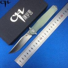 CH3505-G10 High Quality Flipper folding knife D2 blade G10 handle Outdoor camping hunting pocke fruit knives EDC tools Survival цены