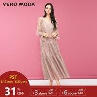 Vero Moda Two piece Print Sleeves Dress Maxi/Long Dress 2019|31847D518