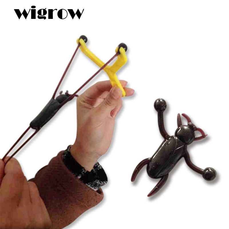 Wigrow Stretchable Sticky Flying Cockroach Catapults Kids Supply Favourite Funny Slingshots Climb Wall Gag Intelligence Toys
