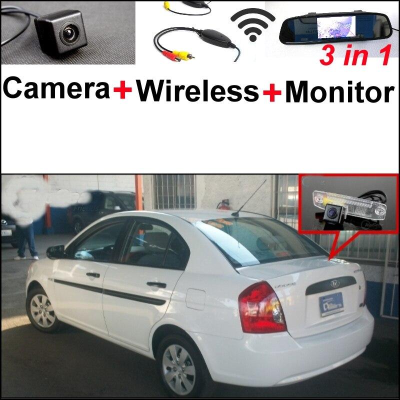 3 in1 caméra de vue arrière spéciale + récepteur sans fil + moniteur miroir facile bricolage système de stationnement de secours pour Dodge Attitude