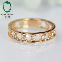Unplated 14k Gold Natural 0.07ct Diamond Engagement Wedding Band Ring, Wholesale Jewelry