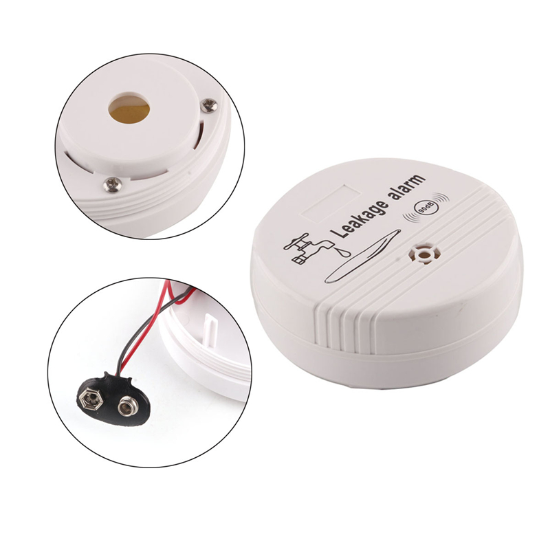 Wireless Water Overflow Leakage Alarm Sensor Detector 90dB ABS Voice Work Alone Water Level Alarm Home Security Alarm System 14
