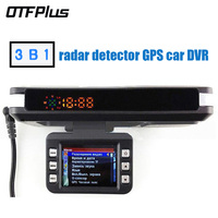 3 In 1 Car DVR Radar Detector Built In GPS Logger HD 140 Degree Angle Russian