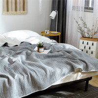 Summer Cotton Air Conditioning Quilt Comforter Blanket Full Queen King Dotiki Throws Bedspread Plaids Patchwork Bed Covers