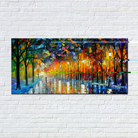 Big Size Hand Painted Abstract Modern Wall Paintings Rain Tree Road Palette Knife Oil Painting On Canvas Wall Decor Home Decor
