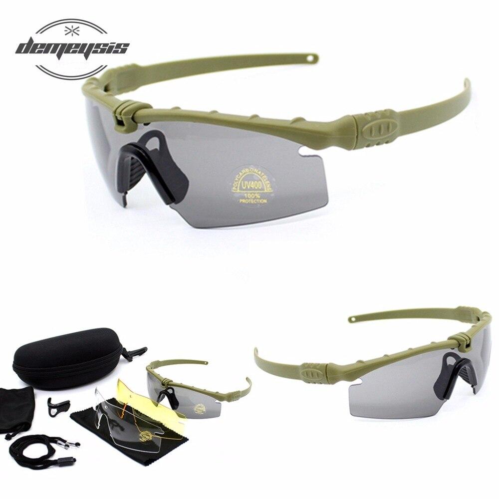 Polarisierte Gläser CS Armee Tactical Motorrad Jagd Schießen Airsoft  Kugel-proof Militär Brille mit 3 Objektiv Kit 3f8765c162