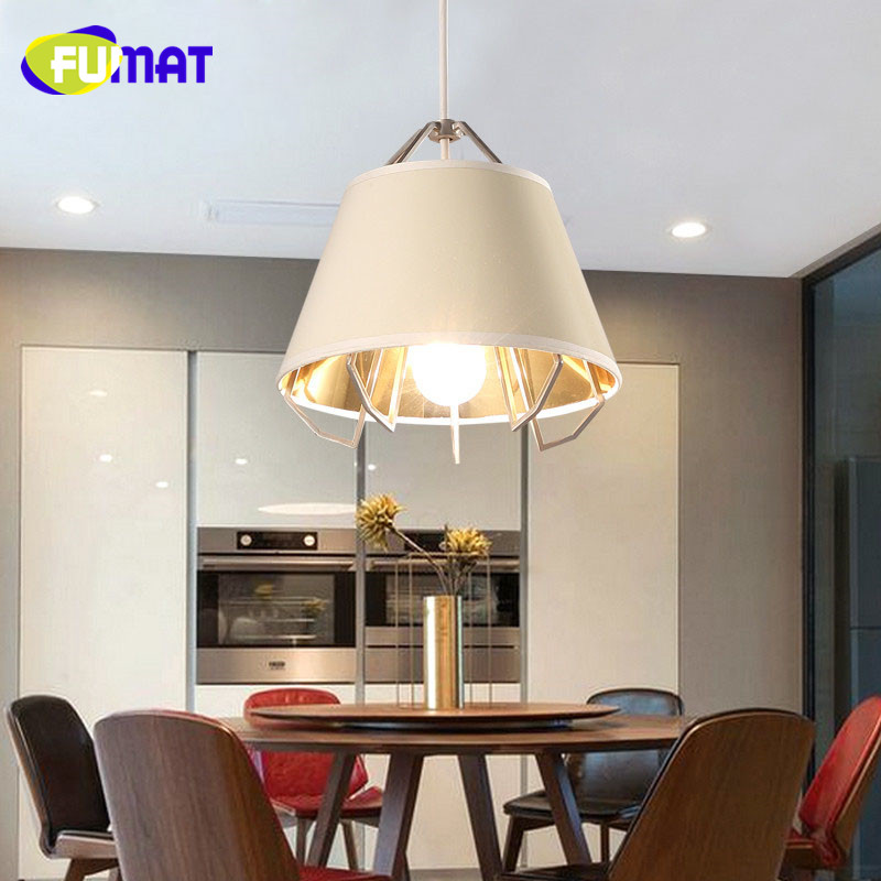 Nordic Style Iron Pendant Light Creative Fabric Lampshade Birdcage Pendant Lamp Modern Simple Bar Study Dinning Room Light