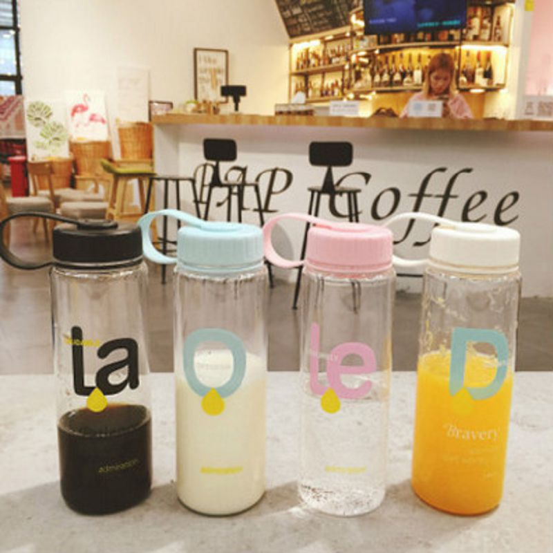 500ml New water bottle lovely bottles Cartoon my plastic botle botella de agua sport drinking Portable drink bootle garrafas
