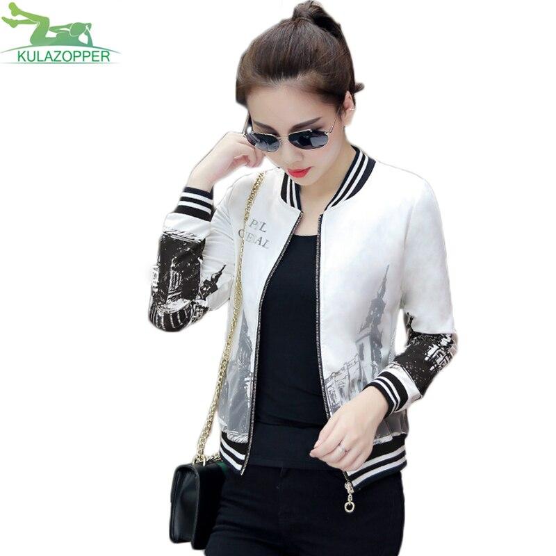 Women Print   Basic     Jacket   2019 New Outwear Casual Building Printing Chiffon Long sleeve Coat Fashion Female Print Outwear QW61