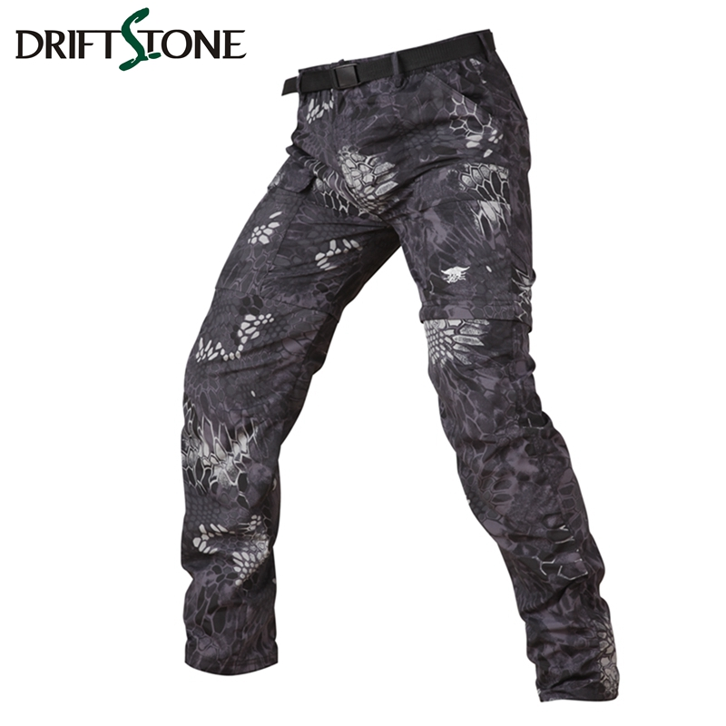 Detachable Army Tactical Quick Dry Pants Breathable Ultra Light  Men Camouflage Military Pants Summer Combat Trousers 6 Colors
