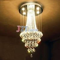 Luxus Hotel Restaurant K9 Kristall Kronleuchter Penthouse Duplex Treppen Kristall Lampe Wohnzimmer Licht Villa LED Leuchte-in Pendelleuchten aus Licht & Beleuchtung bei