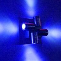 Современные СВЕТОДИОДНЫЕ светильник настенный бра Алюминия 4 Вт Четыре головы выбросов AC85-265V настенные Светильники для Внутреннего гостин...