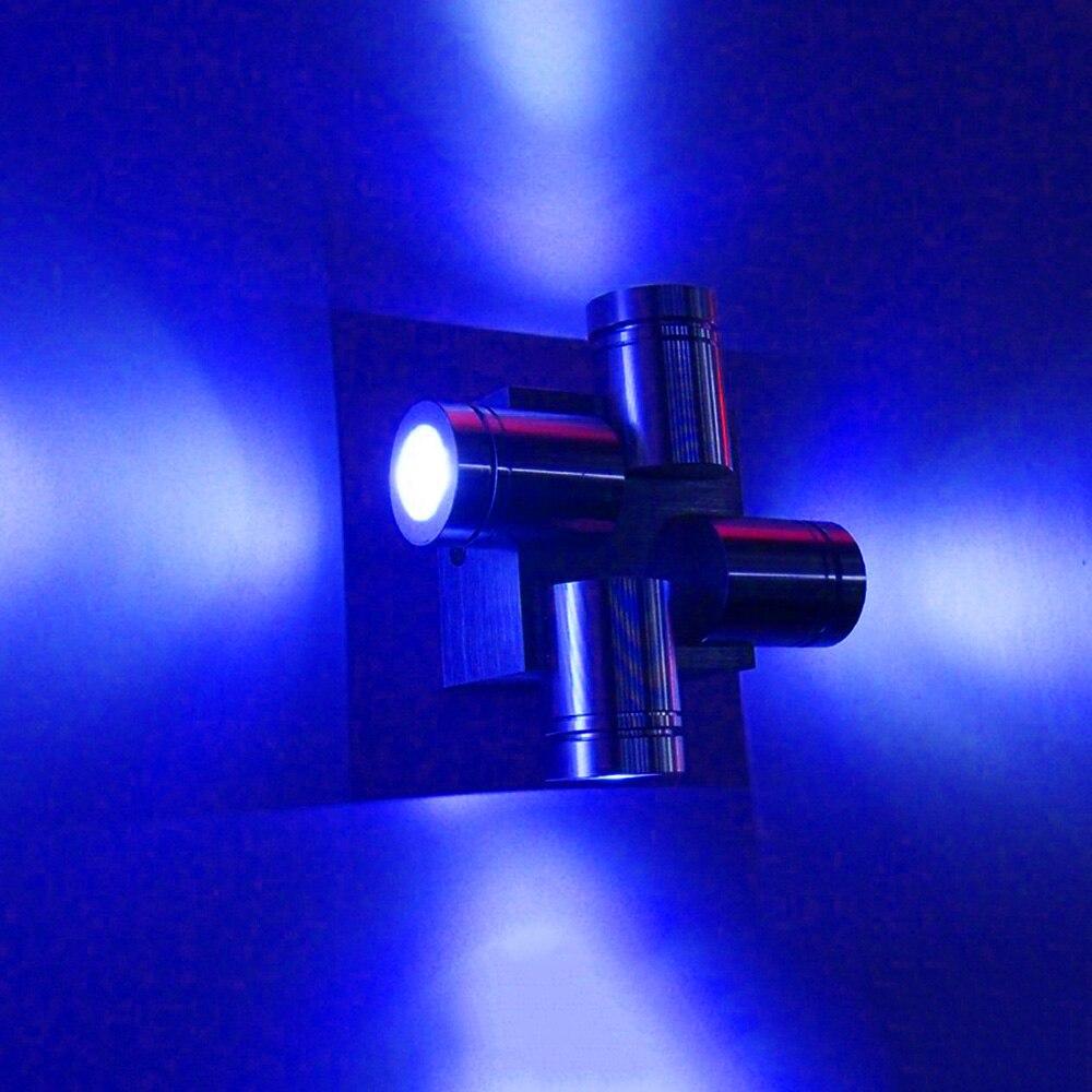 Modern LED Wall Lamp Aluminum 4W Four heads emission AC85-265V Wall Light for Indoor living room decoration Bar KTV Corridor DA