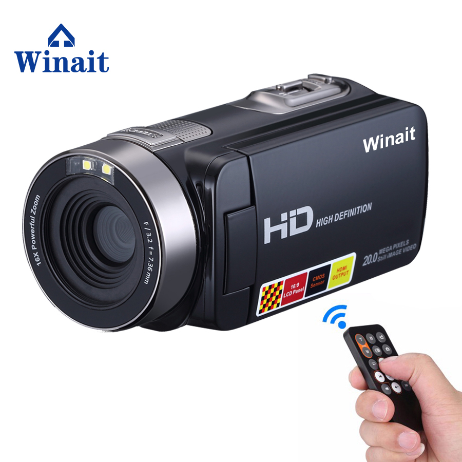Support Nightshot 1080P 24MP Professional Digital Video Camera 16X Digital Zoom Mini Video Camera Camcorder New HDV-301ST