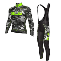 ALE 2017 Cycling Set Autumn Camouflage Thin Long Sleeves Cycling Jerseys Clothing Kits Bike Bicycle Wear