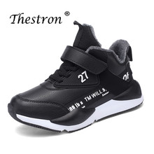 2019 Thestron Fashion Boys Winter Shoes Children Sneakers Plush Warm Brand Trainers Comfortable Sport