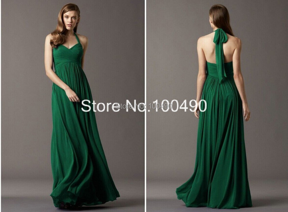 Envío Gratis Barato Largo Verde Esmeralda De Noche Vestidos