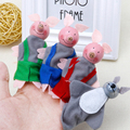 Новый 3 Свиней И 1 Gree Волк Палец Игрушка Поросенка палец Куклы Детские Развивающие Рука История Игрушек Игрушки для Мальчик в Девочке