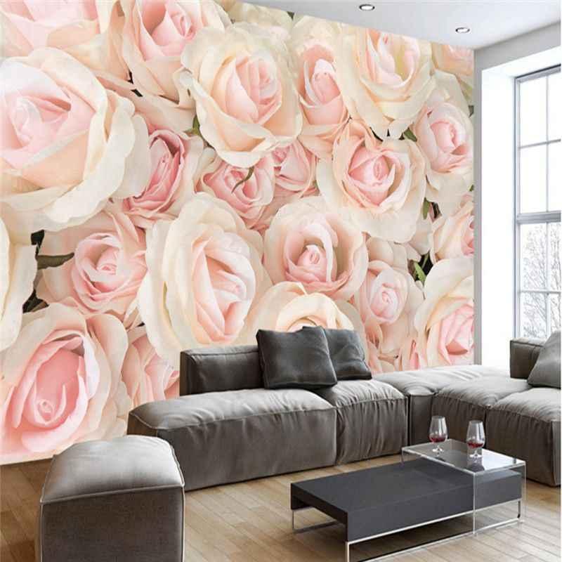 3d Photo Wallpaper Romantic Wall Murals Modern Pink Rose 3d Wallpaper Bedroom Wedding Room Tv Wall Murals Wallpaper For Walls 3d