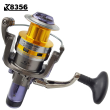 K8356 New Fishing Reel Dual Brake Carp Fishing Reels 10BB 5.2:1 Spinning Reel Metal Arm&Cup Peche Max Drag 7-16KG KS30-KS80