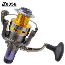 K8356 New Fishing Reel Dual Brake Carp Fishing Reels 10BB 5.2:1 Spinning Reel Metal Arm&Cup Peche Max Drag 7-16KG KS30-KS80