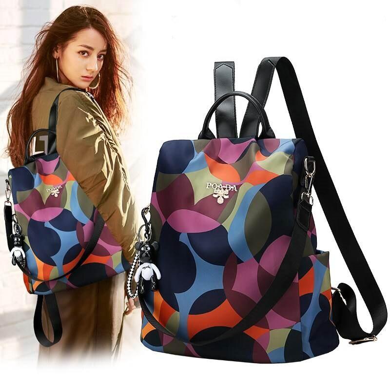Mochila Oxford-Anti-Theft-Backpack School-Bagpack Waterproof Women Travel-Bag Multifunctional