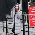 Estendido Quente Casaco de Impressão Para Baixo Mulheres Jaqueta de inverno Casaco de Algodão Engrossar Fêmea Magro Abrigos Mujer Feminino Magro Casacos Grossos Q90