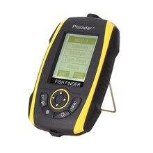 Portable Fish Finder 72m/240ft Depth Sonar Sounder Alarm Transducer Fishfinder Fishing Bait Tool 200KHz/83KHz LCD Fishfinder