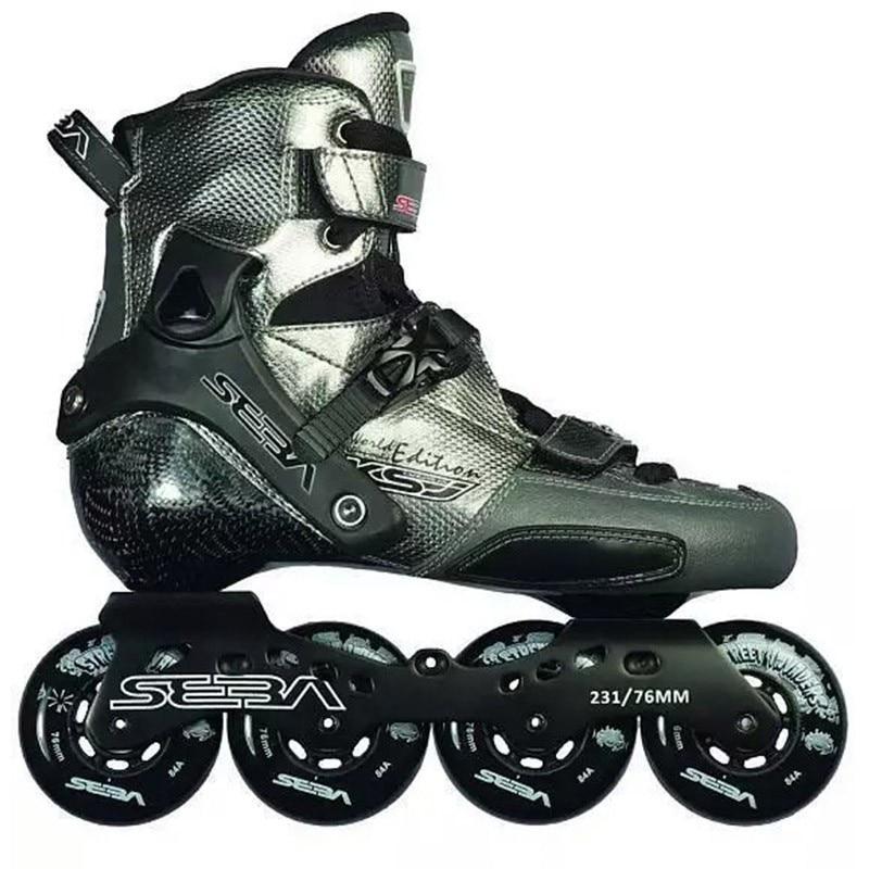Japy Skate SEBA KSJ Bullet Professional Slalom Inline Skates Carbon Fiber Roller Skating Shoes Slding Free