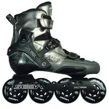 اليابانية سكيت سيبا KSJ رصاصة المهنية Slalom حذاء تزلج بعجلات ألياف الكربون الأسطوانة أحذية التزلج Slding التزلج الحرة Patines