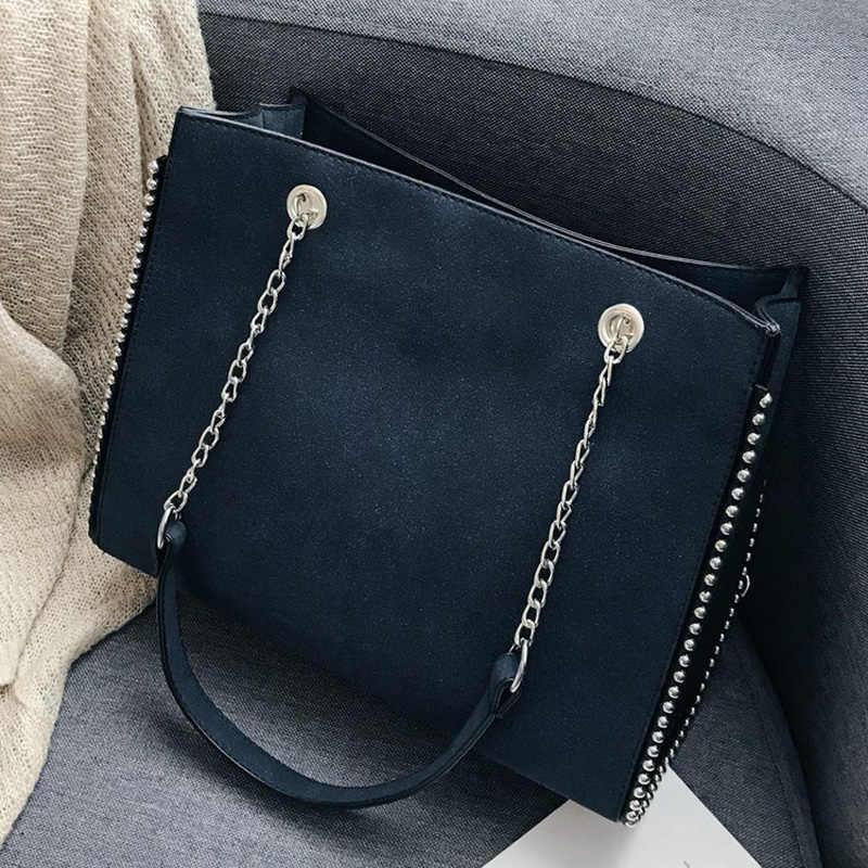 09543a90e1b40 Torba damska torba na ramię luksusowe duża skórzana nit dorywczo moda damska  torebka wysokiej klasy Hign
