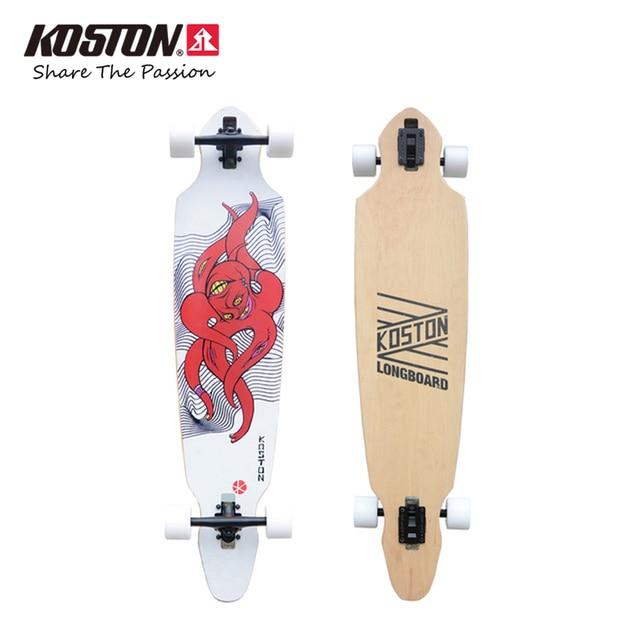 Koston Professionelle Longboard Rundet Kraken Spezielle Design Für Stadt Kreuzfahrt 42 zoll 8ply Kanada Ahorn Beliebten Skateboard Set