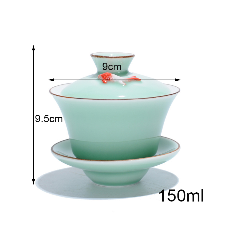 Celadon Gaiwan Gong Fu Tea Bowl 3