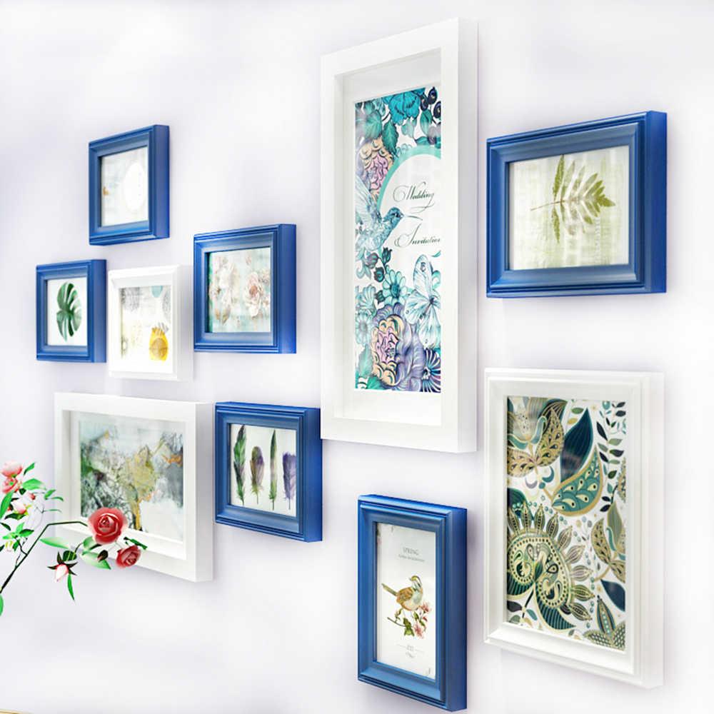 متعددة إطار خشب متين اللوحة لديكور المنزل غرفة المعيشة الأزياء معرض إطار صور مجموعة الجدار الديكور