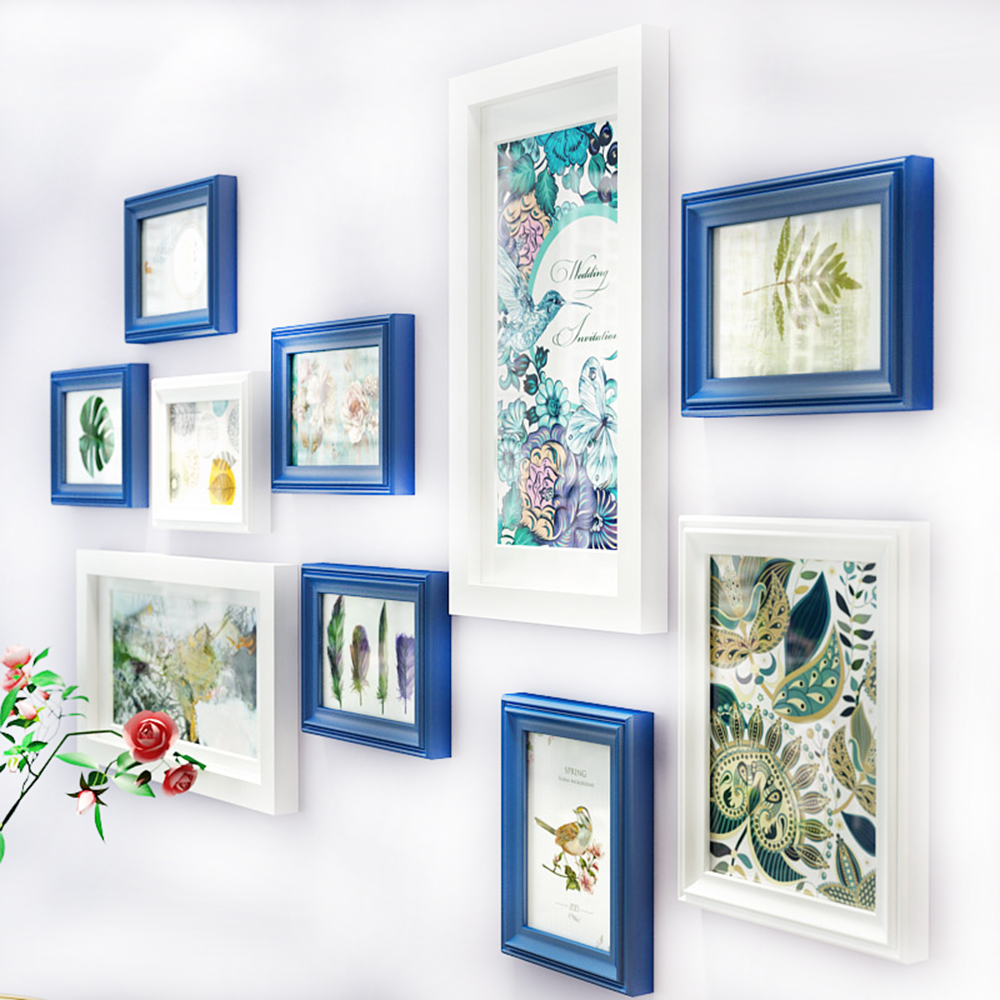 Multi frame Solid Wood Painting for Home Decor Living Room Fashion ...