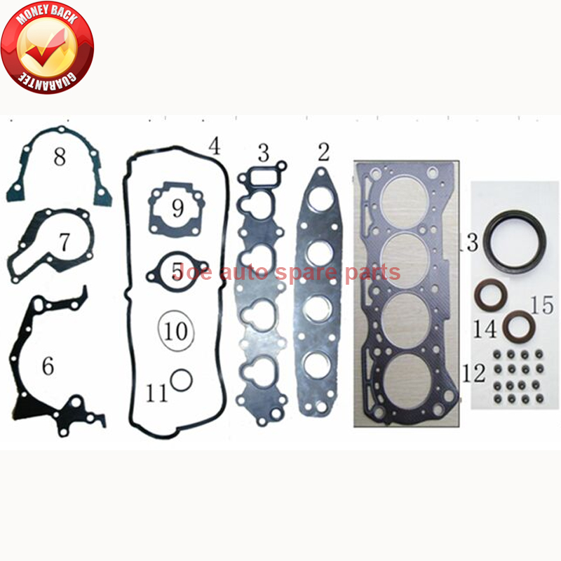 G16B Engine Full gasket SET kit for SUZUKI ESCUDO CULTUS BALENO ESTEEM VITARA GRAND X 90 SWIFT II  1.6L 11400 71812 50111500-in Full Set Gaskets from Automobiles & Motorcycles