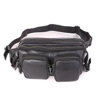J M D Retro Classic Genuine Leather Men S Waist Bag Fanny Pack Black Cheap Man