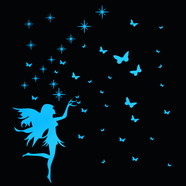 Luminous Butterfly Star Fairy Wall Decor Sticker