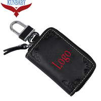 KUNBABY 10pcs/lot NO.15 Genunie Leather Car Key Case Cover Key Holder Key Wallet for BMW Audi Bentley Jaguar Skoda Volvo Jeep