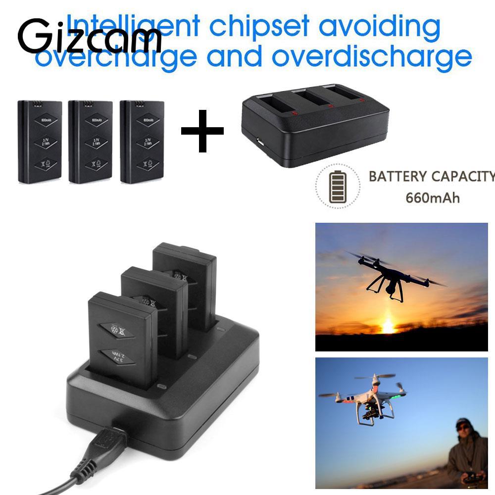 Effiziente Hubschrauber Batterie Drone Batterie Lithium-Batterie 3-Pack 3,7 v 660 mah Für Papagei Mini Drone Ersatzteile wiederaufladbare
