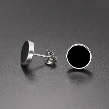 SHUANGR Fashion 1 Pair Round Shape Vintage Stud Earrings for Man Trendy Party Black Earrings Jewelry.jpg 350x350 - Earrings For Men