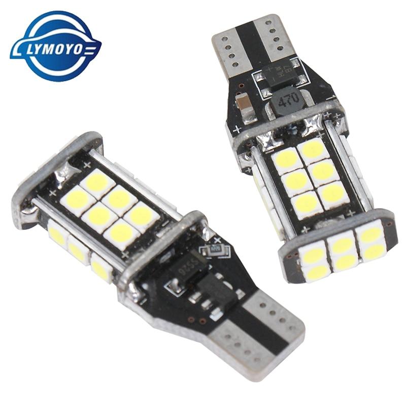 Us 3 19 30 Off Lymoyo 2x W16w T15 Canbus Car Led Lights 3030 24 Smd 6000k Auto Error Free White Brake Lamp Backup Reverse 12v In