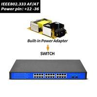 SSC 24 порта 48 В гигабитный коммутатор POE с IEEE802.3af/at протокол подходит для всех POE IP Камера и power over Ethernet инжектор