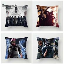 Fuwatacchi Rainbow Six Siege Series Cushion Cover Special Force Printed For Sofa Car Pillowcase Decorative Pillow
