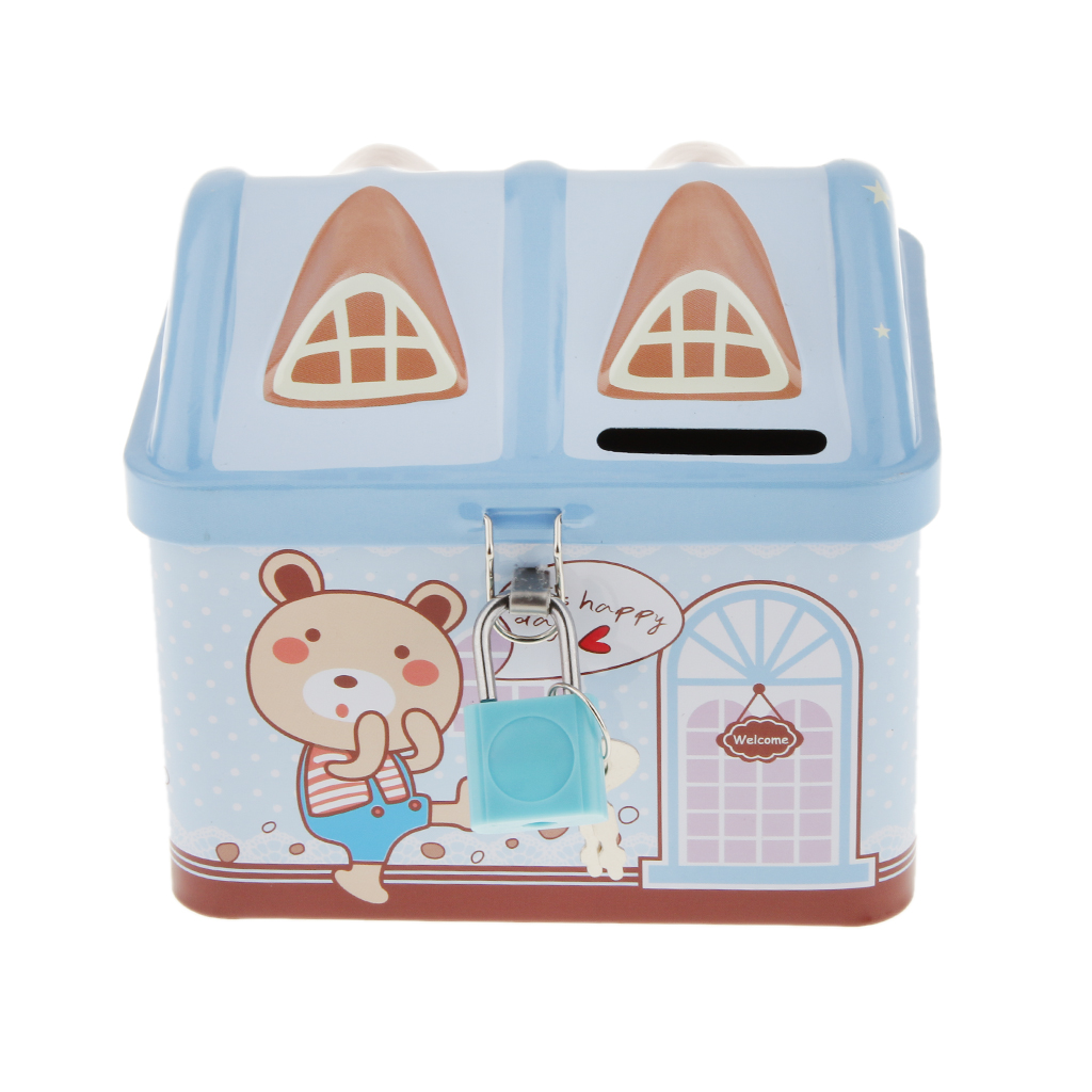 New hot cute house shape saving money box drop resistance for Saving for a new home
