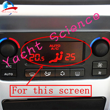 ЖК панель Автомобильная с ЖК дисплеем, монитором, красным фоном для ремонта пикселей и кондиционирования воздуха, экран для Peugeot 207